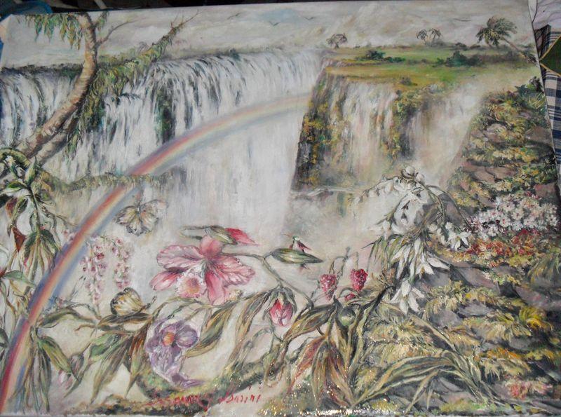 SAM_2256 25-06-2012Iguazù,lecascate più belle delmondo-cm100x70oliosutela-pitt.dir.-pigm.nat.-ver.damar.